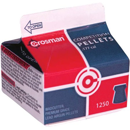 Crosman 177 Caliber Wadcutter/Match Pellets 1250 ct, 71250