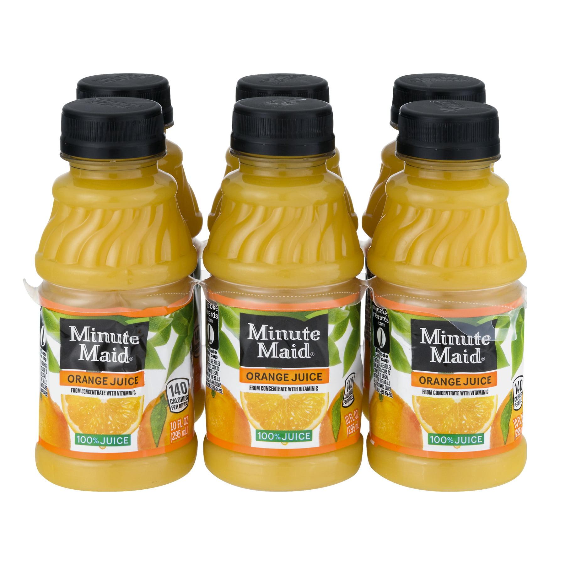 Minute Maid 100% Juice, Orange, 10 Fl Oz, 6 Count