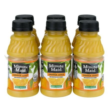 Orange Juice Pitcher - (4 Pack) Minute Maid 100% Juice, Orange, 10 Fl Oz, 6 Count