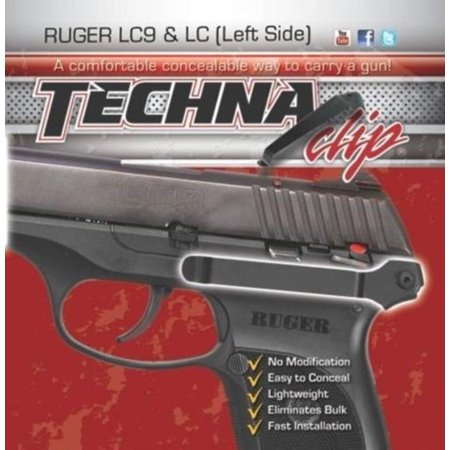 - Gun Belt Clip for Ruger LC/LC9 (Left Side), Why buy a Techna Clip? Our Concealment Systems help you Eliminate the Bulk and Printing of your daily conceal-carry.., By Techna Clip thumbnail