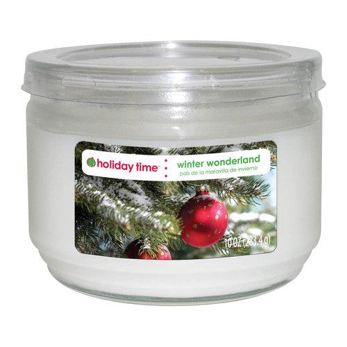 Holiday Time 10-oz Jar Candle, Winter Wonderland
