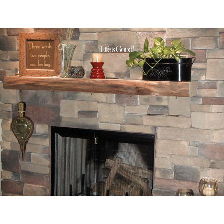 Free Shipping. Buy Kettle Moraine Hardwoods Morton Rustic Fireplace Mantel Shelf at Walmart.com