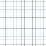 """School Smart Chipboard Backed Graph Paper Pads, 8.5"""" x 11"""", White, 12-Pack"""