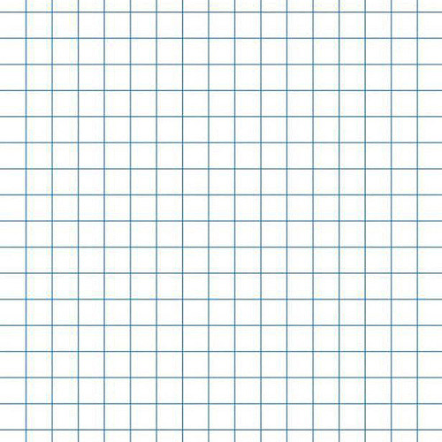 "School Smart Chipboard Backed Graph Paper Pads, 8.5"" x 11"", White, 12-Pack"