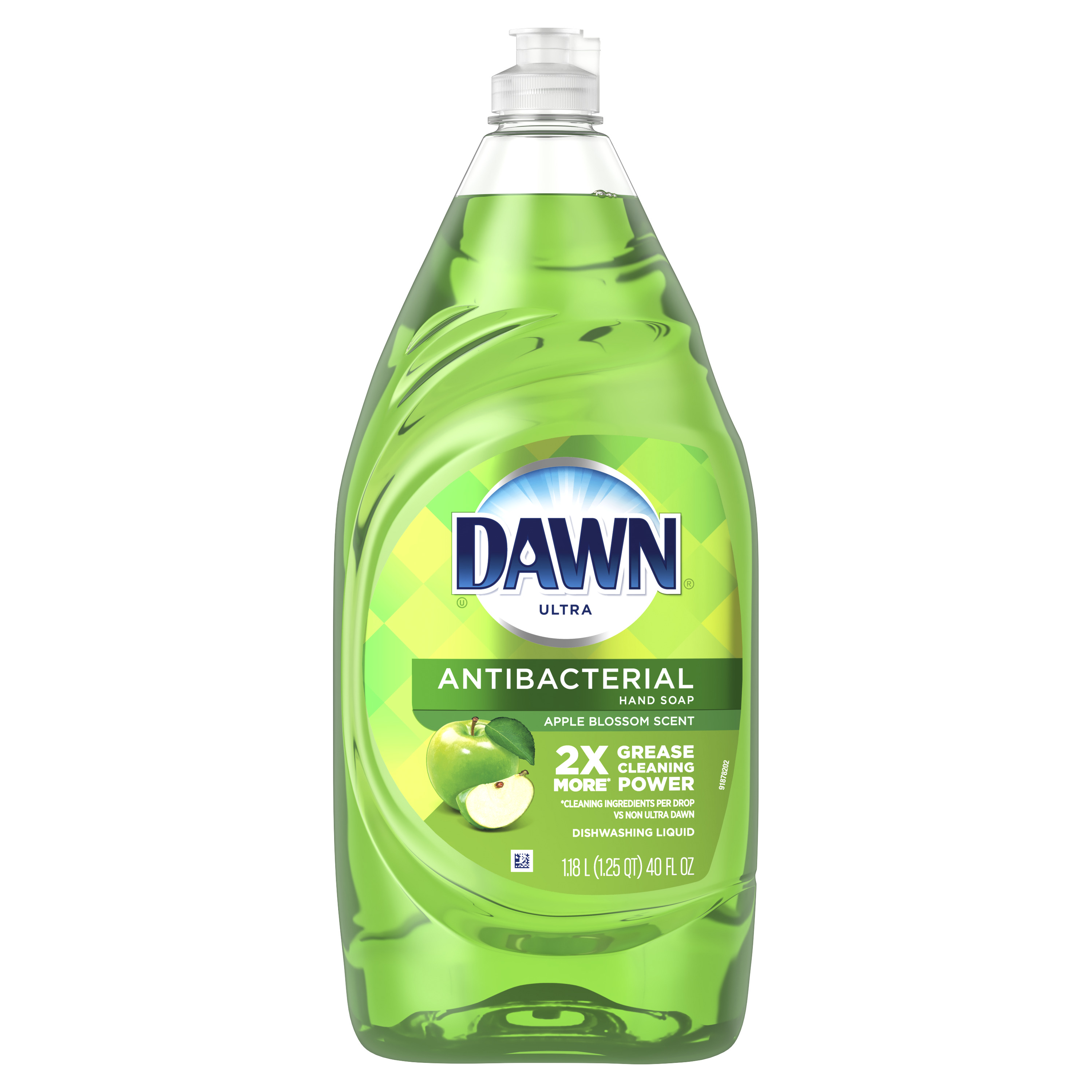 Dawn Ultra Antibacterial Hand Soap, Dishwashing Liquid Dish Soap, Apple Blossom Scent, 40 fl oz