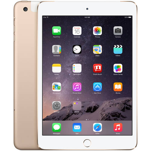 Apple iPad mini 3 128GB Wi-Fi + Cellular, Gold, Refurbished