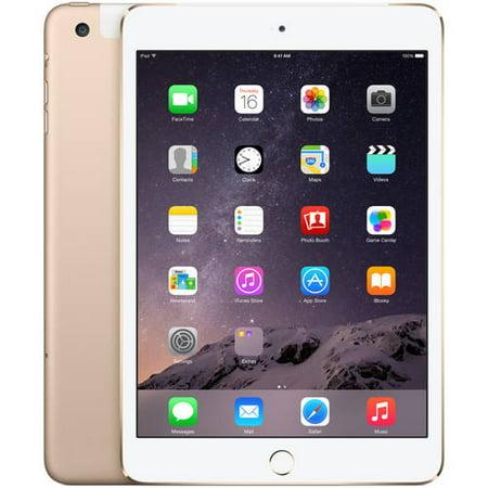 GET Apple iPad mini 3 128GB Wi-Fi + Cellular, Gold, Refurbished OFFER