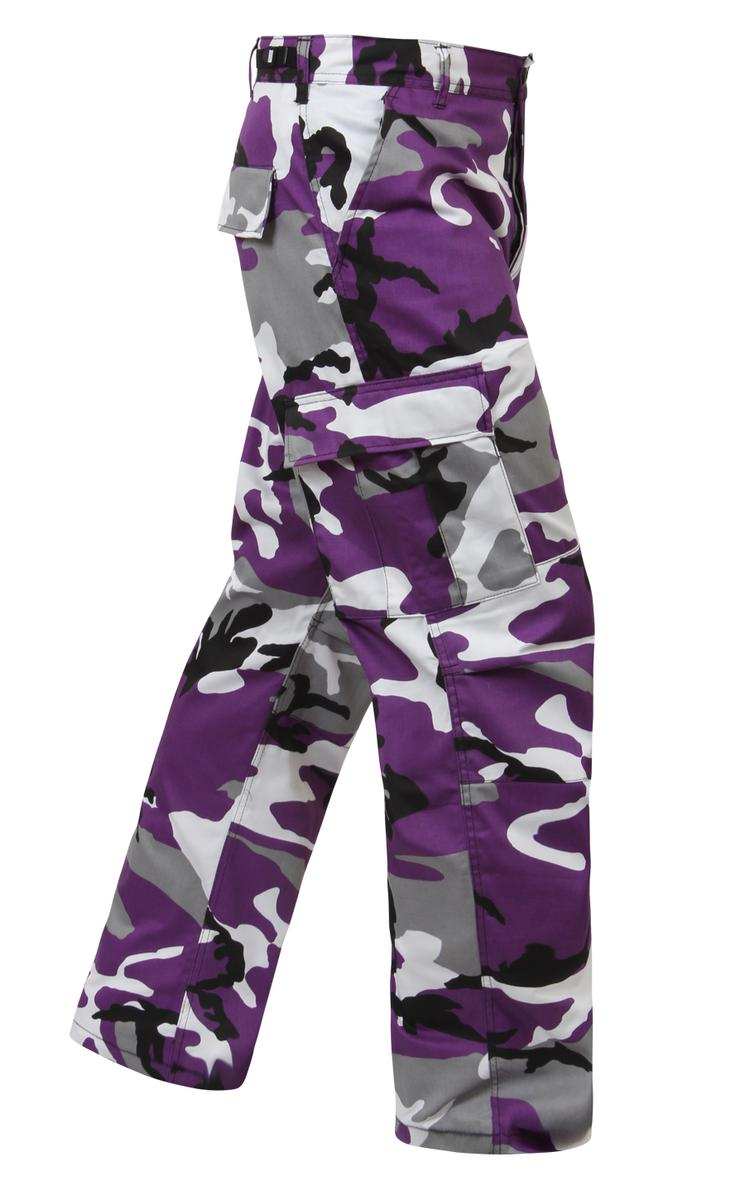 Ultra Violet Camo BDU Pants, Military Fatigues by Rothco