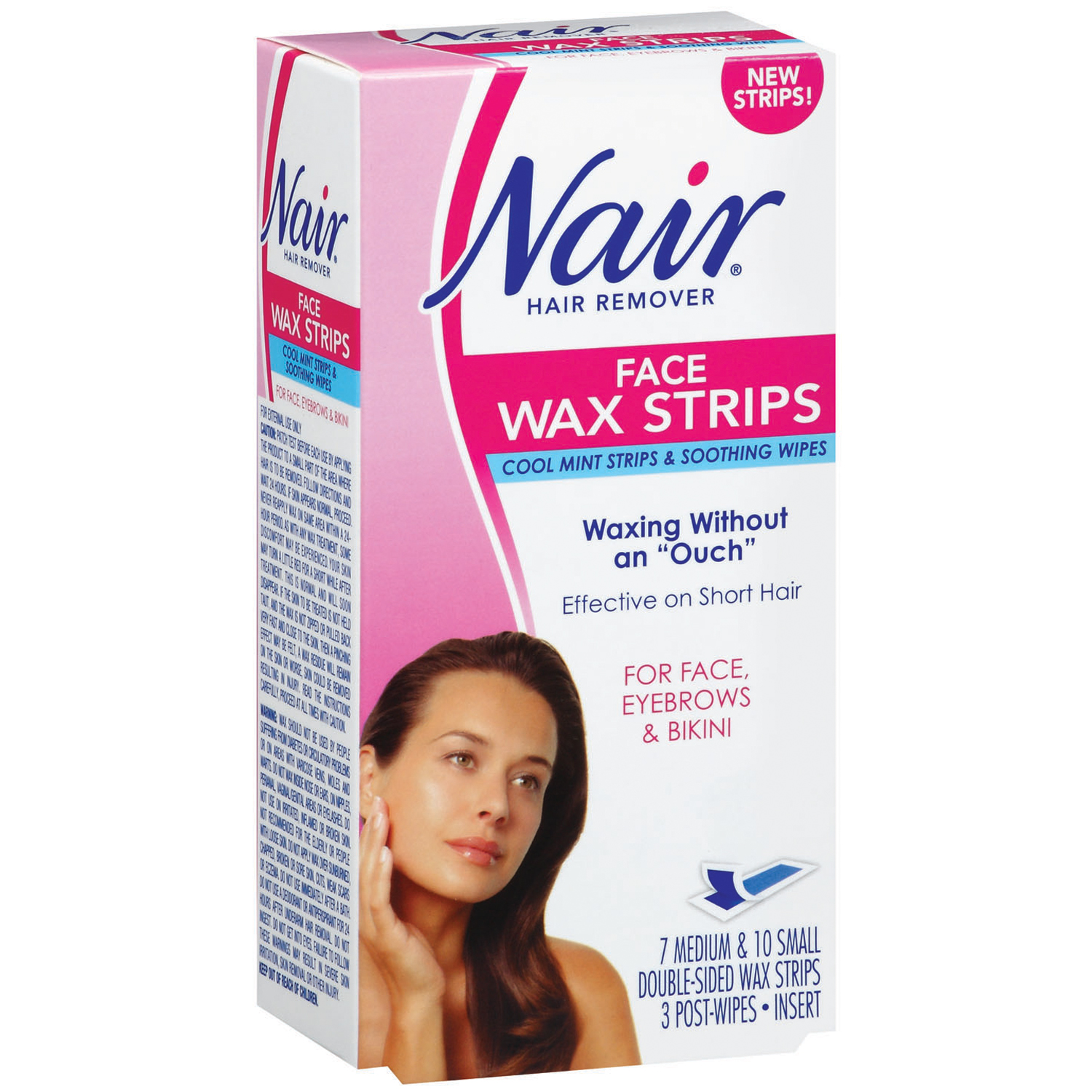 Nair Face Wax Strips Hair Remover 1 Box Walmart Com Walmart Com