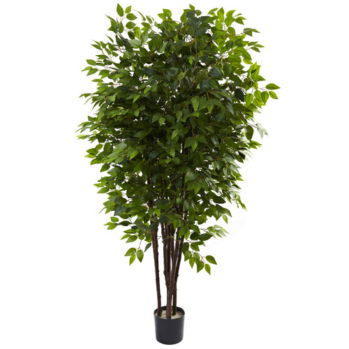 Nearly Natural Nearly Natural Deluxe Ficus Tree in Pot