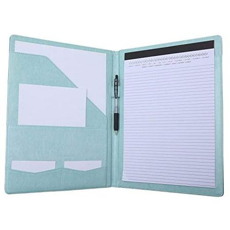 Portfolio Padfolio Resume Folder with FC ENERGY Pocket, Premium Faux ...