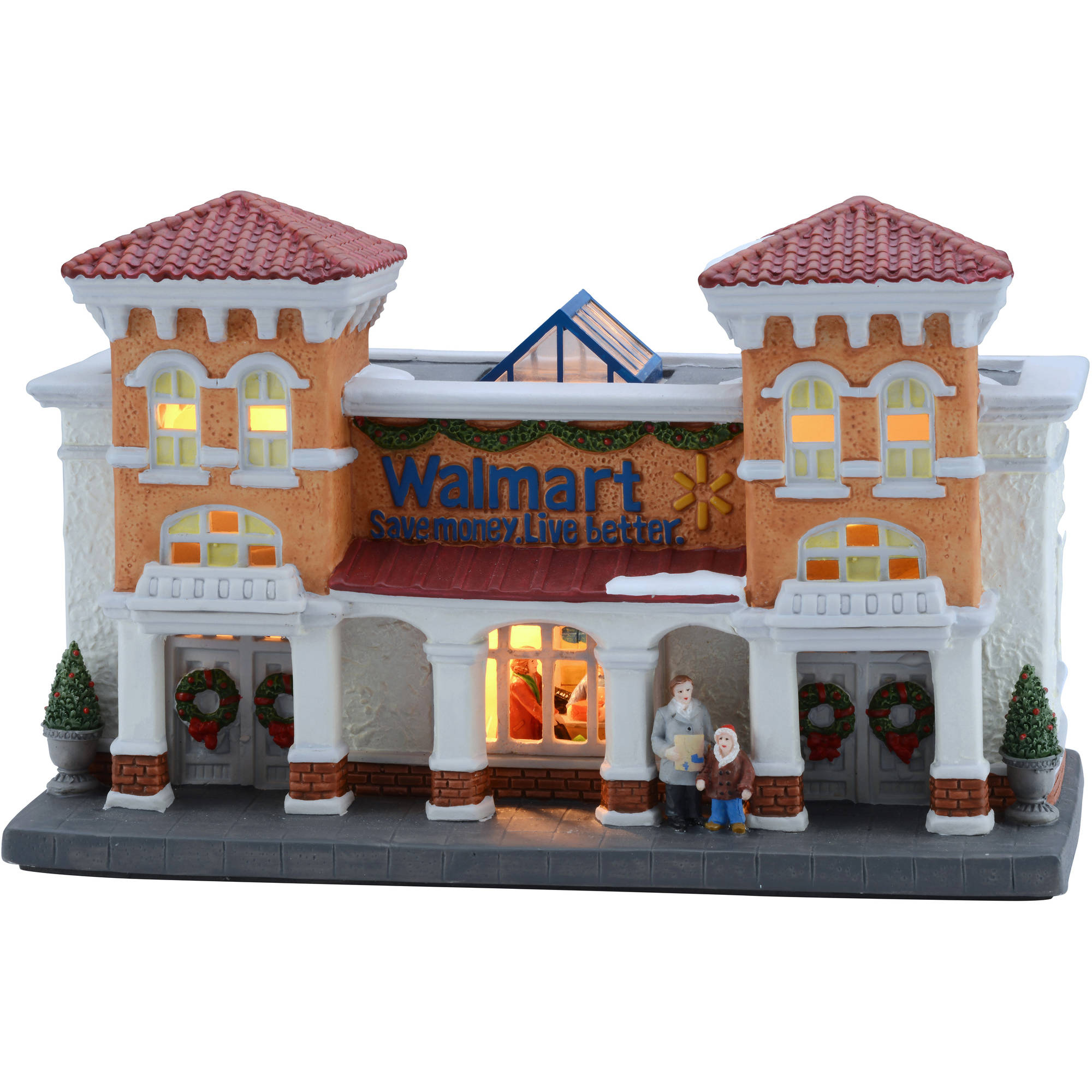 "Holiday Time 6"" Walmart Supercenter Christmas Village"