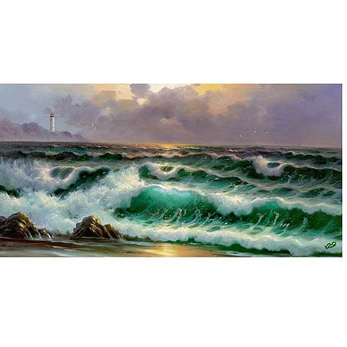 "Trademark Fine Art ""Waves III"" Canvas Art"