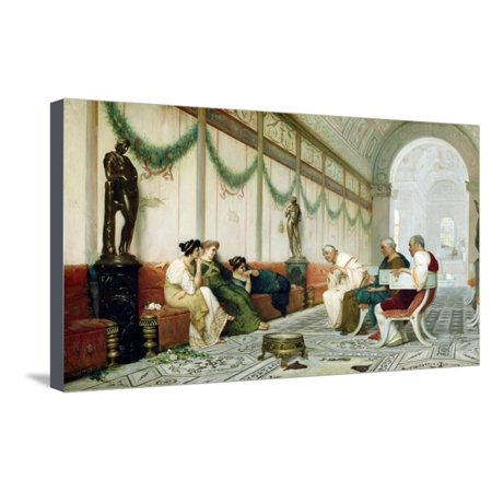 Roman Senator and Important Figures with Three Women by Ettore Forti Stretched Canvas Print Wall Art