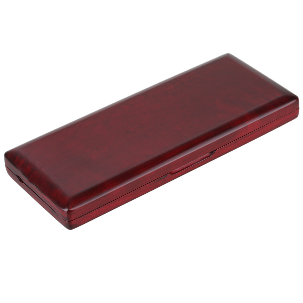 BQLZR Red Wood Wooden Bassoon Reed Box for 10 Reeds Hold Protector with Soft Velvet by
