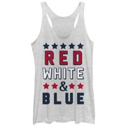 Women's 4th of July Red White and Blue Racerback Tank Top