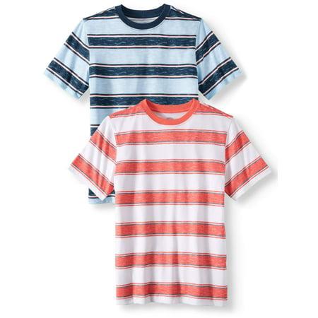 Short Sleeve Stripe Tee Shirt Value, 2-Pack Set (Little Boys, Big Boys, & Husky)](Boys Converse T Shirts)