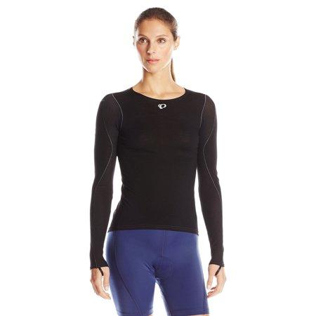 Pearl iZUMi Women's W Transfer Wool Long Sleeve Cycling Baselayer Black Small (Pearl Izumi Transfer)