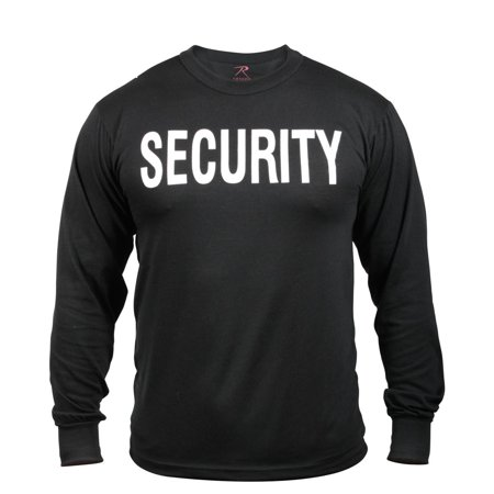 Long Sleeve Black Security T-Shirt - Walmart.com