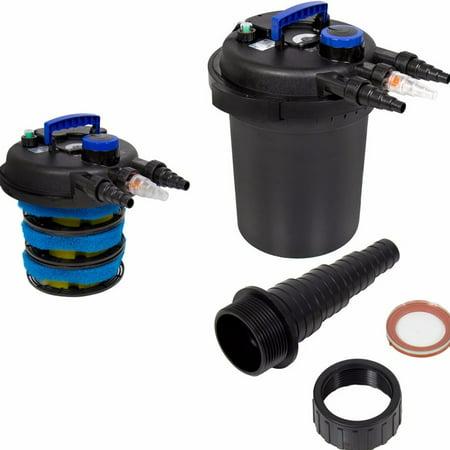 4000 gallons koi pond pressure bio aquarium filter with for Koi pond uv filter