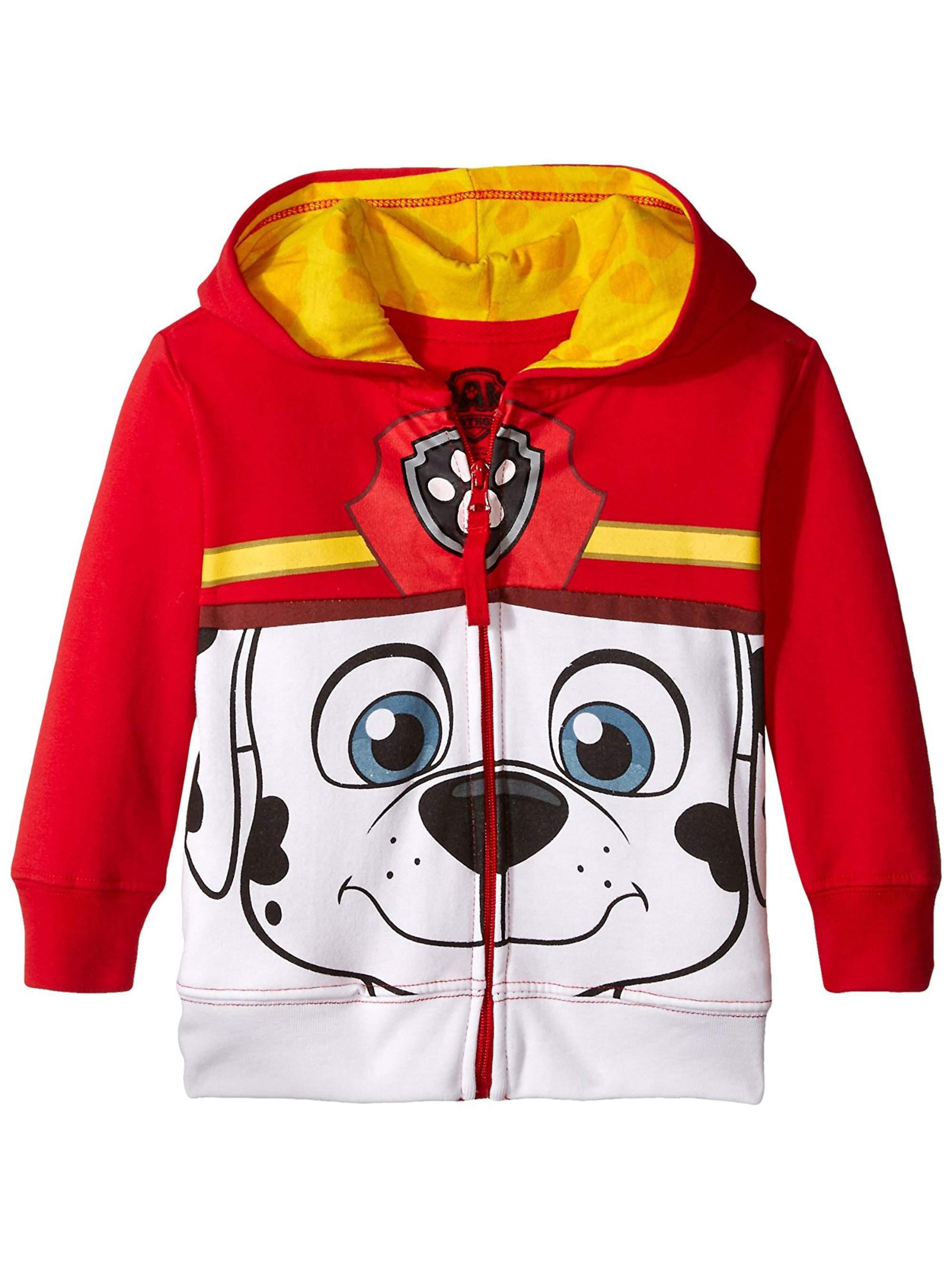 Paw Patrol Big Face Character Zip-up Hoodie Sweatshirt (Toddler Boys)