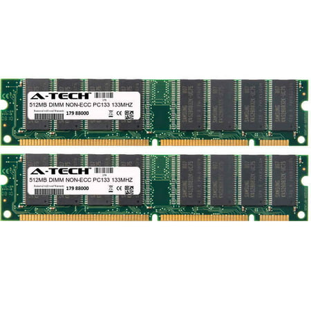 1GB Kit 2x 512MB Modules PC133 133MHz NON-ECC SD DIMM Desktop 168-pin Memory (Ecc Pc133 Module)