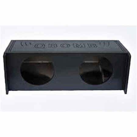 Qpower QBJEEP10 DF 10 in. Dual Custom Speaker Box for Jeep Wrangler Downfiring, Charcoal - image 1 of 1