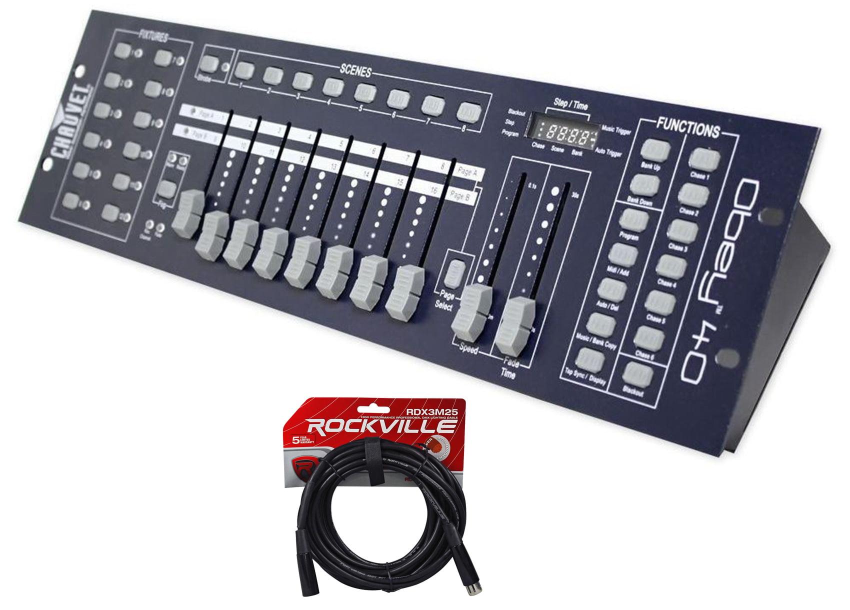 Chauvet DJ OBEY40 DMX 512 Light   Fog Controller +FREE 25' Foot DMX Cable by CHAUVET