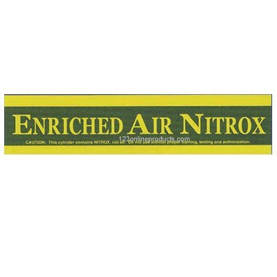 23 Inch Large Enriched Air Nitrox Tank Sticker, By Trident