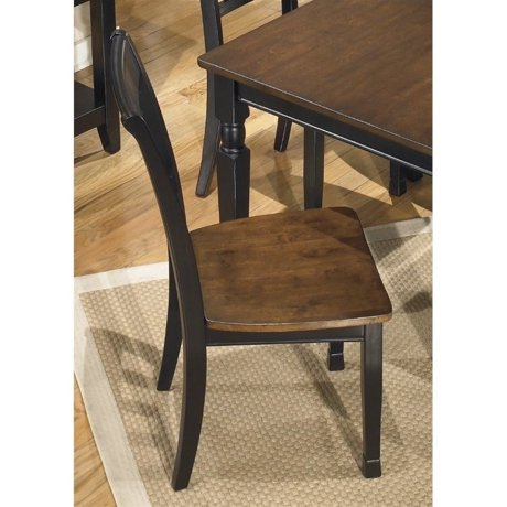 Ashley owingsville dining chair in black and brown for Meuble ashley circulaire