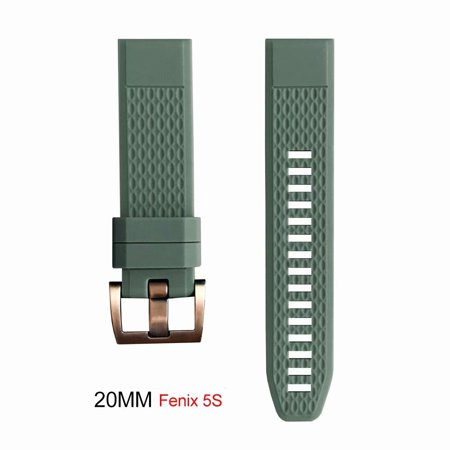 20MM Universal Silicone Watch Band Strap for Garmin Fenix 3 Fenix 5S 5 5X D2 Approach S60 Smart Watch W/Tools-Army