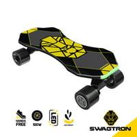 "SWAGTRON Swagskate NG3 Electric Skateboard for Kids, Teens | Kick-Assist A.I. Smart Sensors | Boosted Mini E-Cruiser Skateboard w/ Move-More/Endless Mode | 9"" Deck 72mm Wheels"