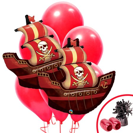 Pirate Birthday Jumbo Balloon Bouquet Kit - Pirate Balloons