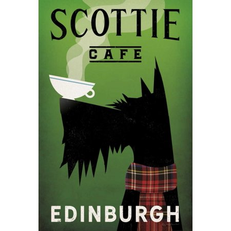 Scottie Cafe Poster Print by Ryan Fowler (24 x 36)