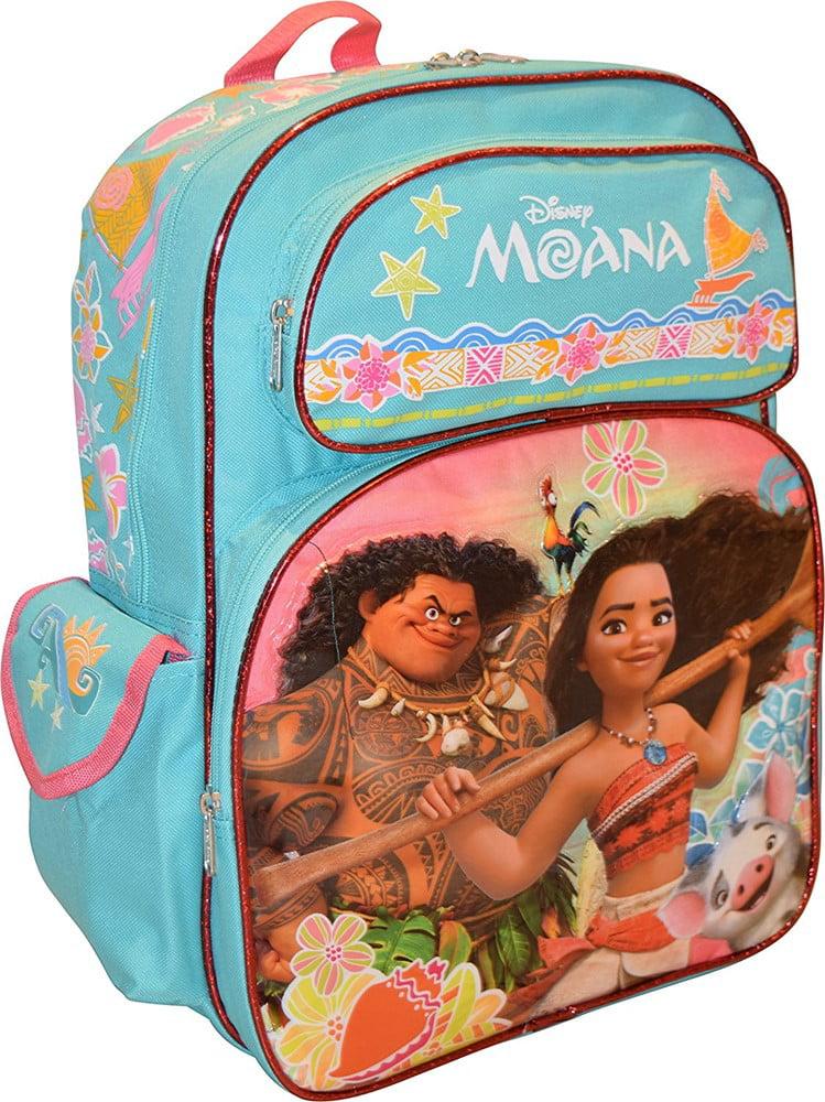 "Disney Princess Moana Girl's Deluxe 16"" School Bag Backpack by Moana"