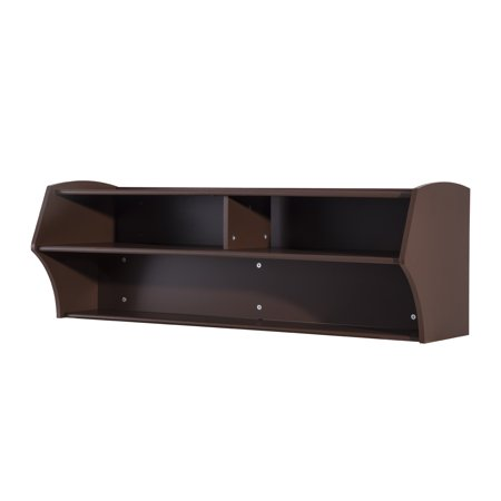 HomCom 48 Wall Mounted Floating Media Console – Brown