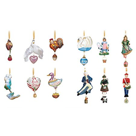 reed barton 12 days of christmas ornaments set of 12