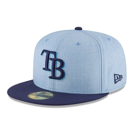Tampa Bay Rays New Era 2018 Father's Day On Field 59FIFTY Fitted Hat - Light