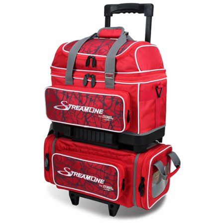 Storm Streamline 4 Ball Roller Bowling Bag- Red Crackle/Red - 4 Ball Bowling Bags