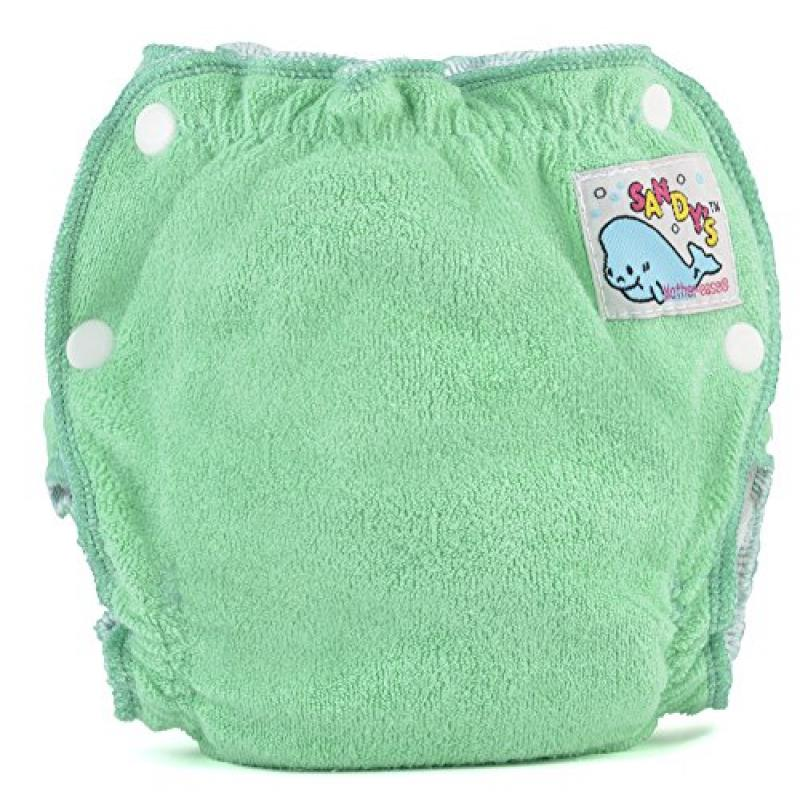 Mother-ease Sandy's Cloth Diaper (Newborn (6-12 lbs), Green)