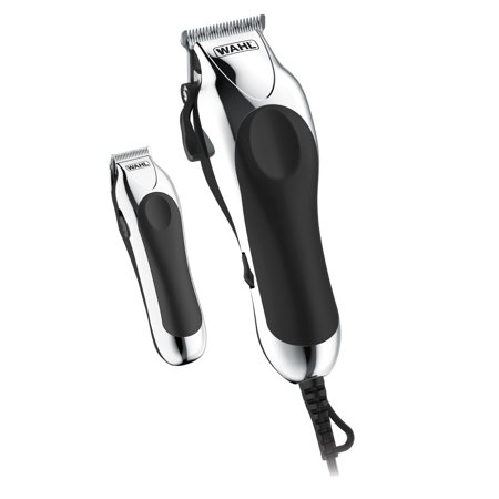 Wahl Deluxe Chrome Pro Home Haircutting Kit, Clipper and Trimmer
