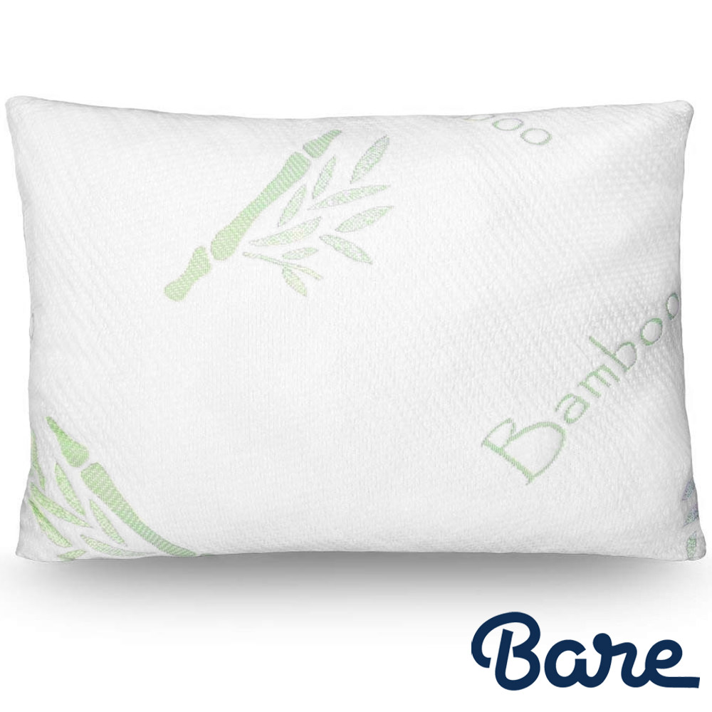 Bare Home – Luxury Shredded Memory Foam Pillow – Removable, Breathable & Cool, Hypoallergenic Premium Bamboo Cover – Fully Adjustable Support - (Standard, 4-Pack)