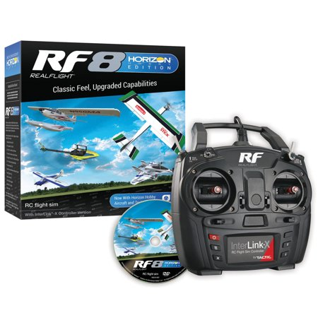 Horizon Hobby (RealFlight RF8 Horizon Hobby Edition with InterLink-X Controller,)