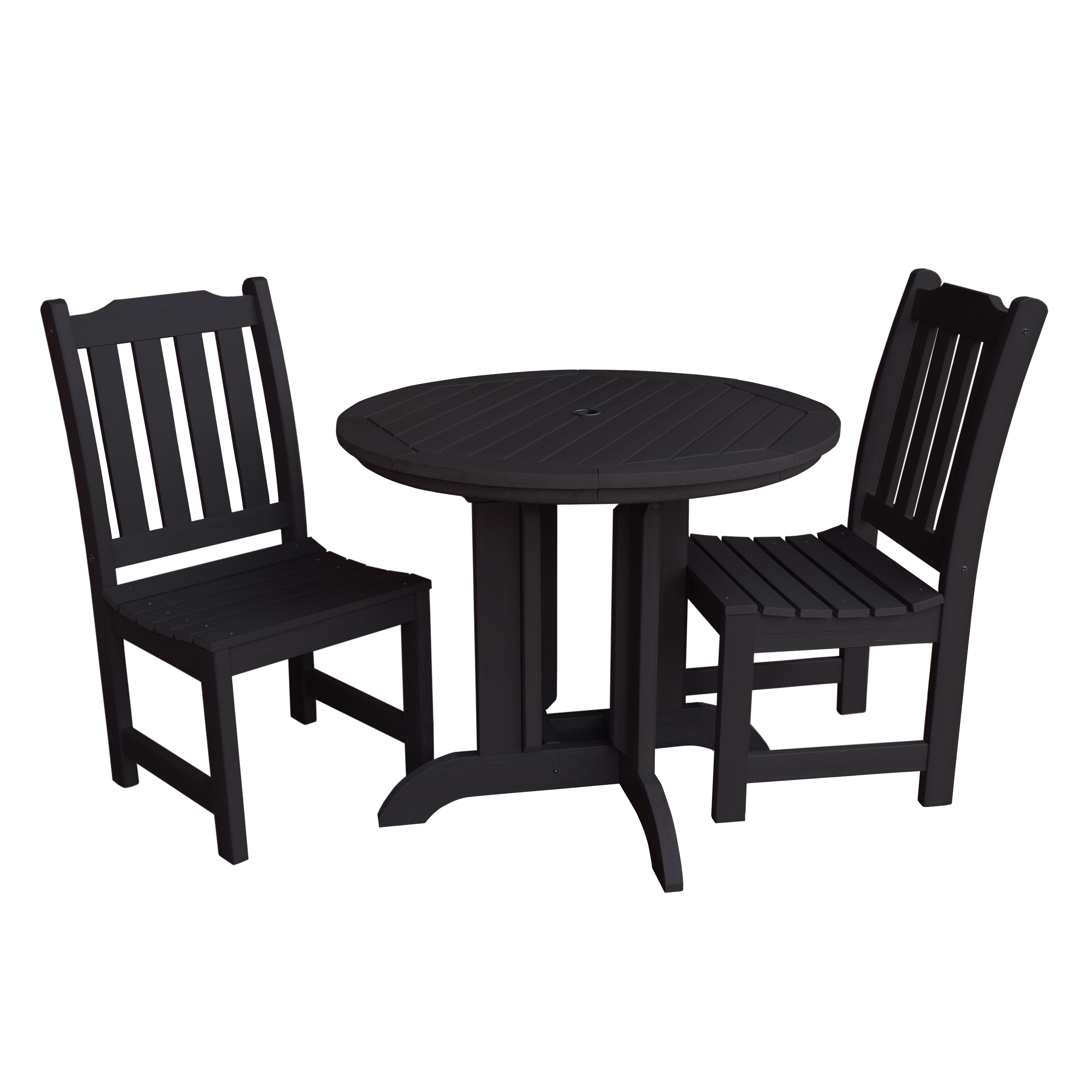 highwood® Eco-Friendly Recycled Plastic Lehigh 3pc Round Dining Set