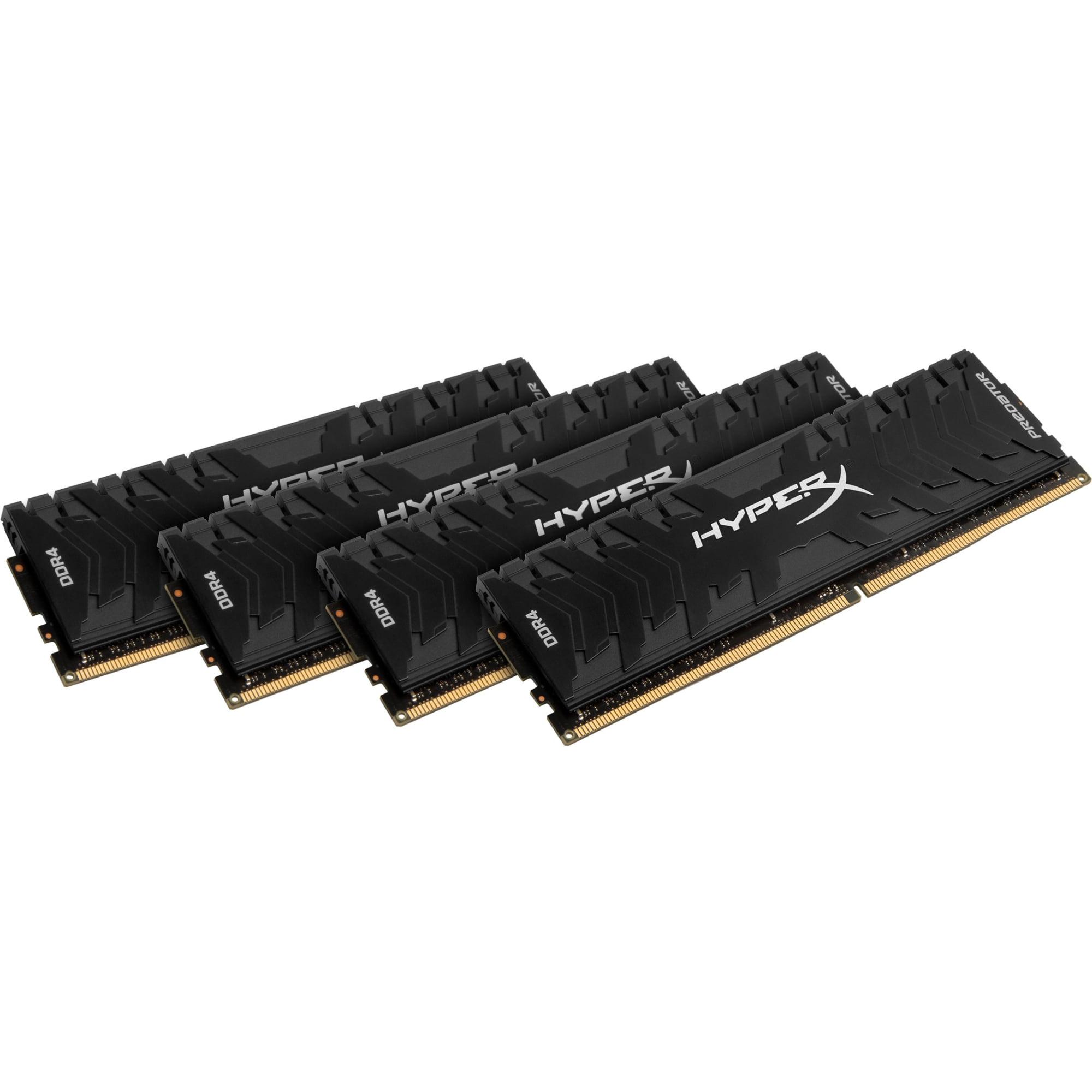 Kingston Predator Memory Black - 32GB Kit (4x8GB) - DDR4 3000MHz Intel XMP CL15 DIMM - 32 GB (4 x 8 GB) - DDR4 SDRAM -