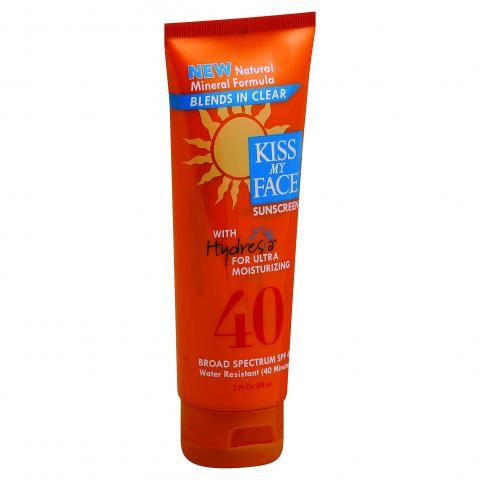 Kiss My Face Hydresa Sunscreen SPF 40, 3 Fl Oz
