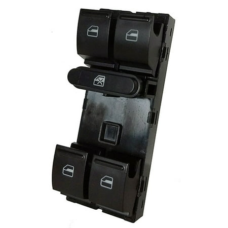 2009-2018 Volkswagen Tiguan Power Window Master Control Switch (2009 2010 2011 2012 2013 2014 2015 2016 2017 2018) (electric control panel lock button auto driver passenger