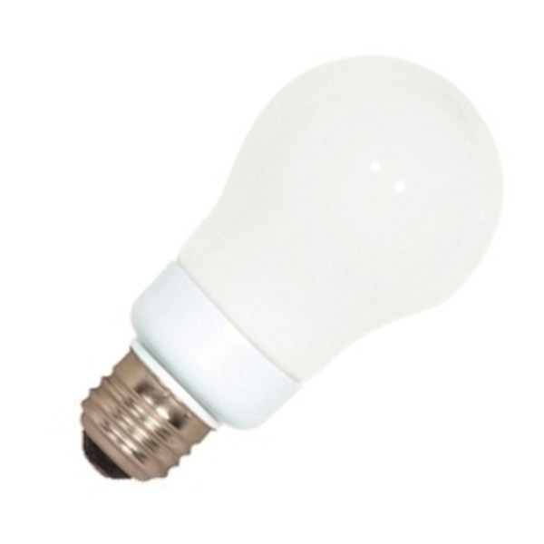 Satco 07281 7A19 27 (S7281) Pear A Line Screw Base Compact Fluorescent Light Bulb by Satco