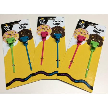 Chip Clip Set - Cookie Bouquet Party Clips Set of 6, Cookie Holder Clips Set of 3 By Chip Clip