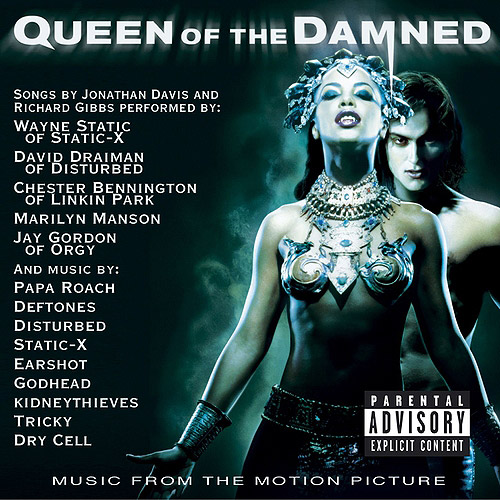 "Original songs by Jonathan Davis and Richard Gibbs.In Anne Rice's book QUEEN OF THE DAMNED, recurring vampire character Lestadt awakes from a lengthy hibernation and proceeds to remake himself into a rock star of global proportions who ends up attracting the unwanted attentions of head vampire Queen Akasha. Although the late Aaliyah plays the title role in the film, the accompanying soundtrack contains nary a stitch of hip-hop or R, instead cleaving to the hard and heavy sounds conjured up by Korn's Jonathan Davis and ex-Oingo Boingo keyboardist Richard Gibbs. Due to contractual obligations, Davis was prevented from singing these songs, therefore the quintet of cuts composed by this duo are sung by an impressive array of talent from the nu-metal world.Marilyn Manson slithers his way through the chilling ""Redeemer,"" Orgy's Jay Gordon haunts the ominous ""Slept So Long,"" and Linkin Park's Chester Bennington makes his solo debut with the eerie ""System."" Elsewhere, Static-X's namesake Wayne Static growls through the thumping ""Not Meant For Me"" and Disturbed's David Draiman pours himself into the sweeping ""Forsaken,"" featuring the Middle Eastern-flavored contributions by violinist Shankar."